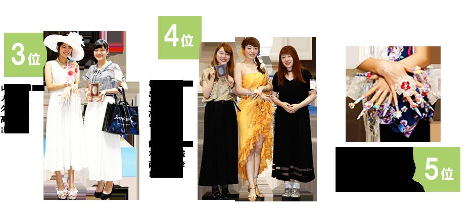 アジアネイルフェスティバル ネイティフルコンテスト全国3-5位