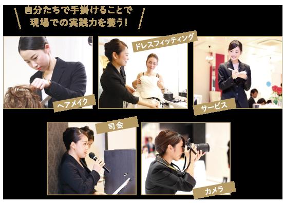 ヘアメイク・ドレスフィッティング・サービス・司会・カメラ