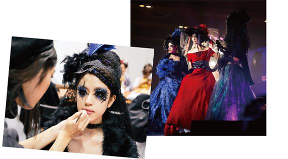 日本女子博覧会のヘアメイク